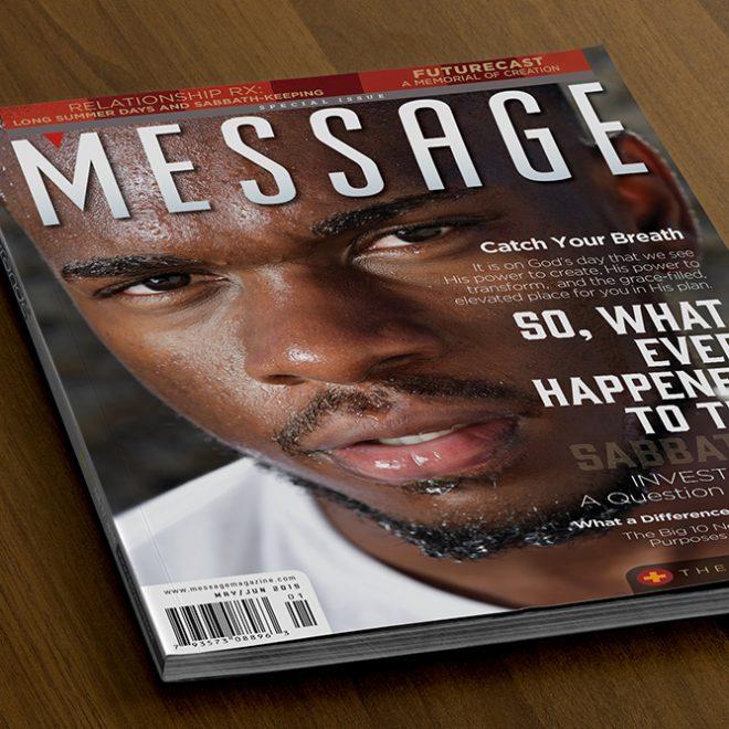 Logo Design Refresh - Message Magazine Cover