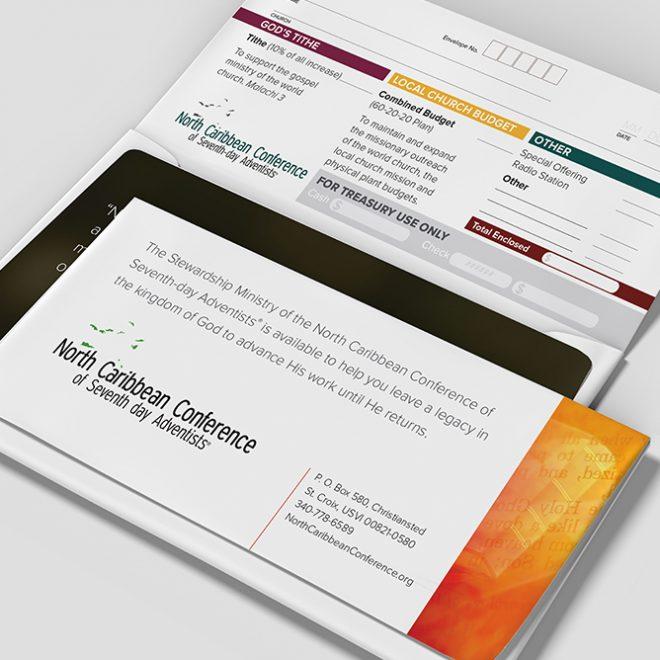Print Design | North Caribbean Conference Tithe Envelope