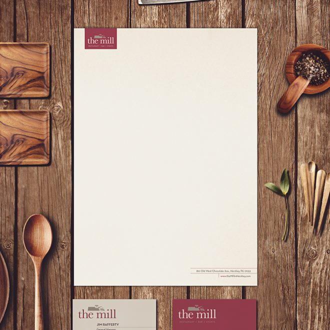 Logo Redesign | The Mill Restaurant | Stationary